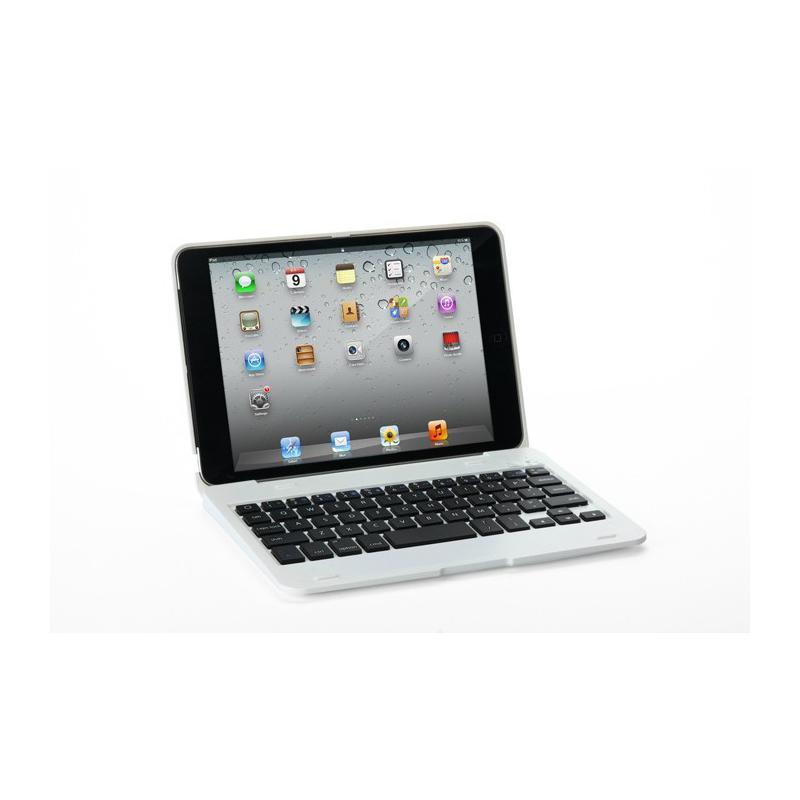 Heng Da 216B aluminium alloy lighting bluetooth Keyboard and holster for ipad mini White(China (Mainland))