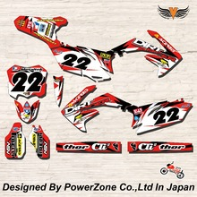 CRF XR CRM 250 450 650 Team Graphics Backgrounds Decals Stickers Thor ASV Fit Motorcycle Dirt Bike MX Racing - PowerZone Co.,Ltd store