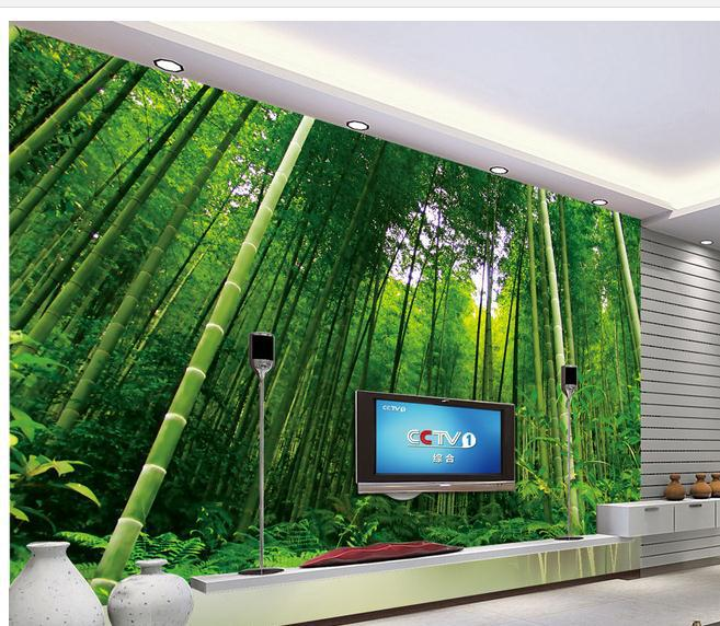 New large wallpaper custom wallpaper bamboo scenery for Bamboo mural wallpaper