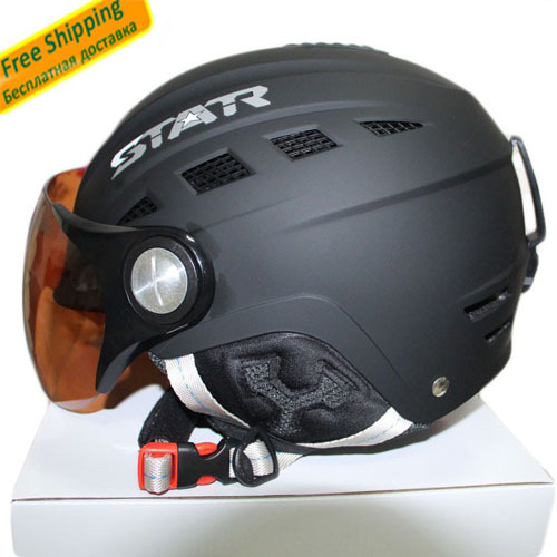 Гаджет  ski helmet ABS CE certificate adult ski open face helmet skateboarding skiing helmets snowboard sport head protection  None Спорт и развлечения
