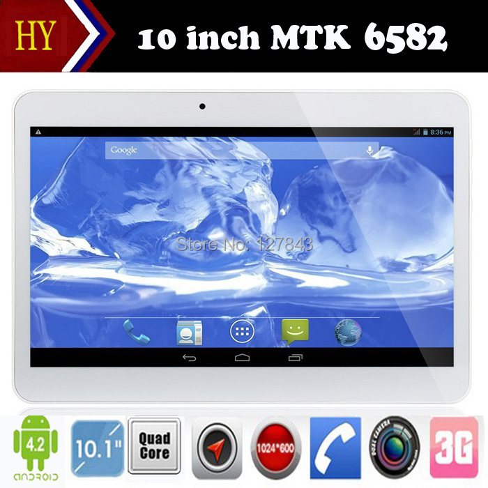 DHLfree shipping 10 inch Quad Core 3G phone tablet MTK6582 Android 4.4 2GB RAM 16GB ROM Dual Cameras Bluetooth GPS 3G Tablet(China (Mainland))