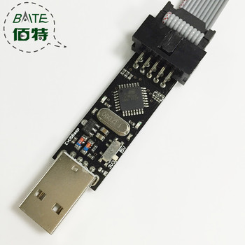USBasp USB ISP 3.3V / 5V AVR Programmer USB ATMEGA8 ATMEGA128 New +10PIN Wire Support Win7 64Bit