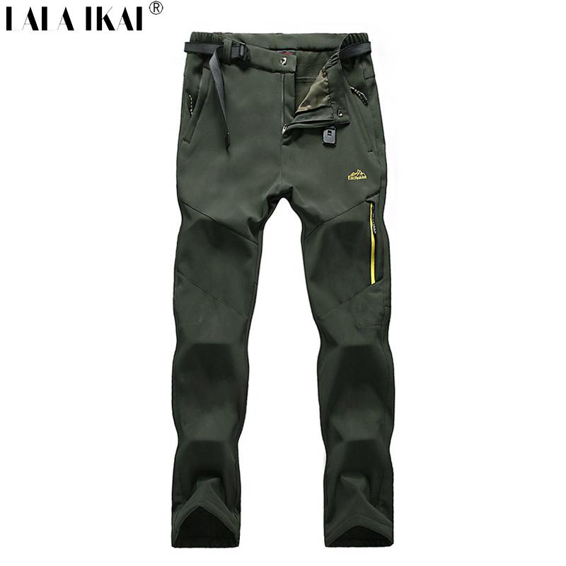 Fleece Pants Hiking Military Windproof Hiking Men Pants Outdoor Sport Climbing Waterproof Camping Winter Thermal Pants HMB0141-5