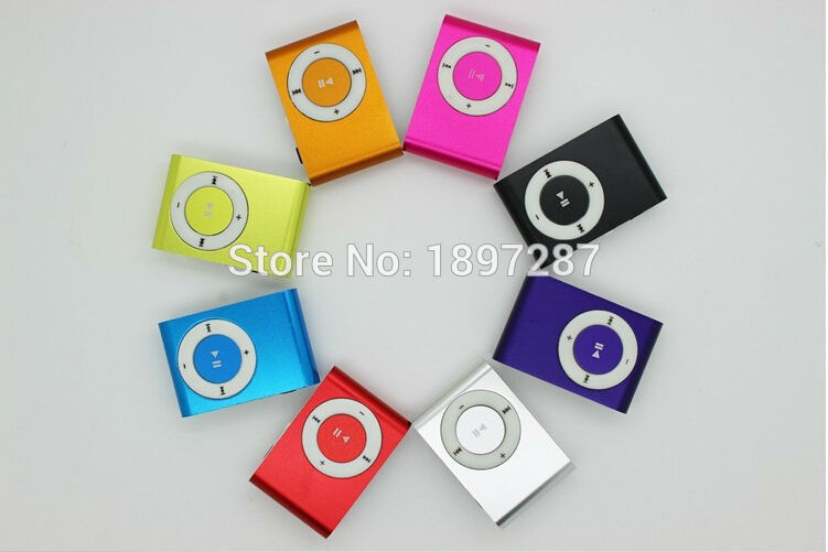 Wholesale MINI clip MP3 Player with Micro TF/SD card Slot with mini MP3 and earphone and usb data(China (Mainland))