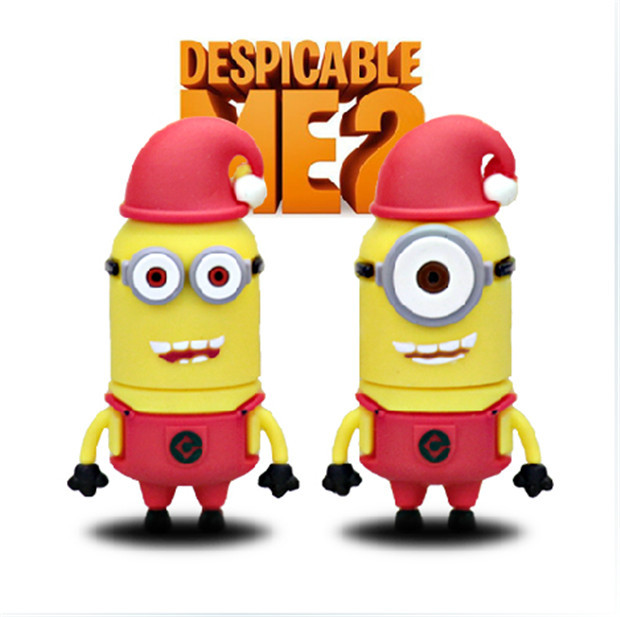 Despicable Me 2 series red hat USB 2.0 4GB-64GB USB Flash 2.0 Memory Drive Stick Pen/Thumb/Car S167(China (Mainland))