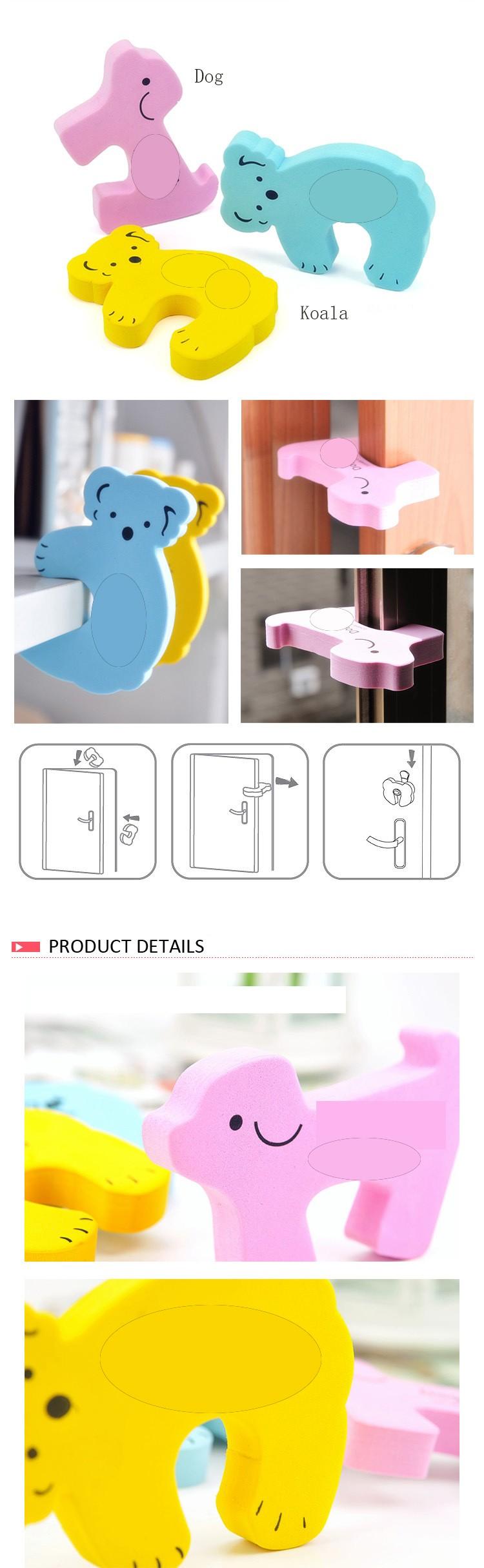 1 pcs/set On sale Koala animal shape baby finger door stopper baby door guard with excellent quality