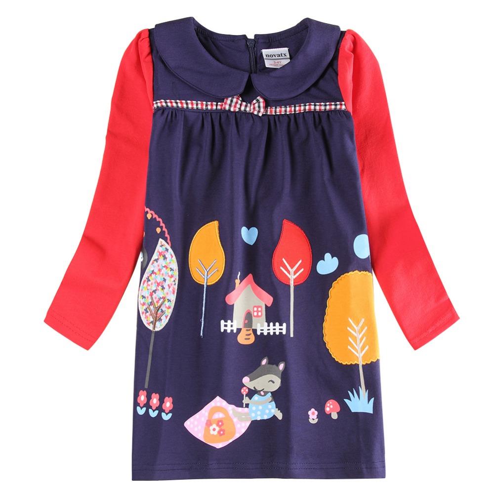 children clothes hot dresses baby long sleeve 2015 newest design girls flower frocks - NOVA & NOVATX Factory Store store