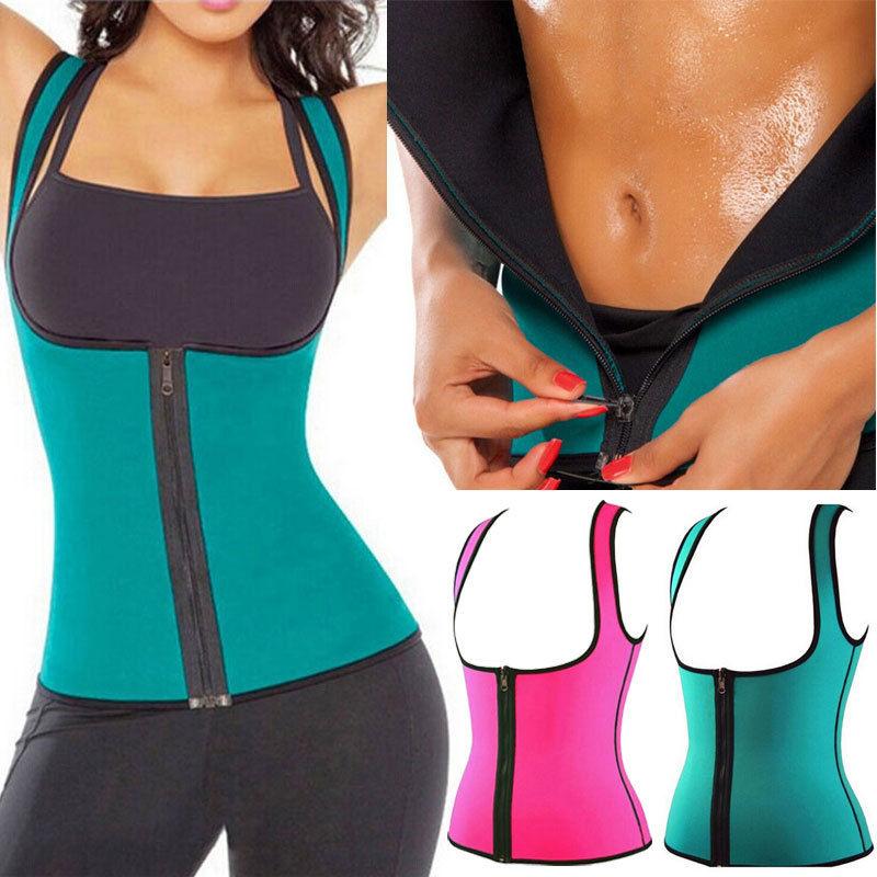 Thermo Sweat Hot Neoprene Body Shaper Slimming Waist Trainer Cincher Vest Women Shapers