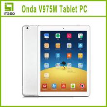 ONDA V975M 9.7 inch Ultra Slim Tablet PC Android 4.3 Quad Core Amlogic A9 Retina 2GB RAM 32GB ROM Bluetooth Wifi Dual Camera(China (Mainland))
