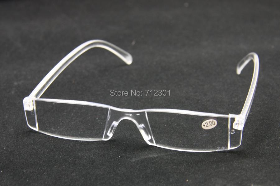 Unbreakable Men & Women Reading Glasses, Light Weight Transparent Plastic Rimless Presbyopia Glasses, Optics Pocket Reader(China (Mainland))