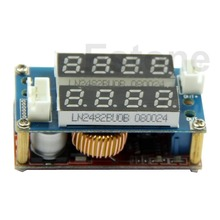 Free Shipping 5A Adjustable Power CC/CV Step-down Charge Module LED Driver Voltmeter Ammeter