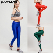Buy 2016 Fashion Skinny workout Leggings Fitness Pants V-Waist High Waist Multicolor Female Solid Color Slim Leggings Women Workout for $8.09 in AliExpress store