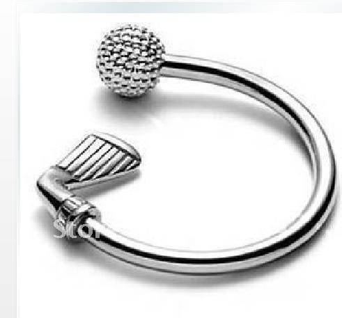 KY002 Silver Plated Fashion Keyring Key Chain / Accept Mixed Order / Min Order $10 / Charmhouse Promote Item(China (Mainland))
