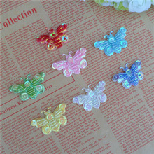 Buy 100pcs/lot 4.3*3cm Embroidered sequin deaded Butterfly patch applique Laciness Corsage Accessories DIY Lace Patch for $18.80 in AliExpress store