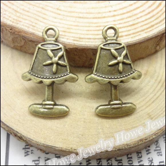 65 pcs Vintage Charms Table lamp Pendant Antique bronze Fit Bracelets Necklace DIY Metal Jewelry Making(China (Mainland))