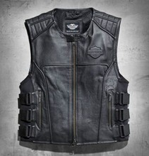 2015 Hot Selling Motorcycle Leather Vest 97108(China (Mainland))