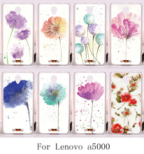 Beauty Colourful Flowers Back Cover PC Skin Luxury Phone Cases For Lenovo A5000 A 5000 Hard plastic Painting Style Shell