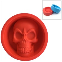 by DHL or EMS 1000 pcs Skull Muffin Cup Food Grade Silicone Cake Pudding Mold skull shpe mould(China (Mainland))