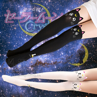 Sailor Moon cosplay costume Crystal Luna Kitty Cute Pantyhose Women Panty Stocking Tights(China (Mainland))