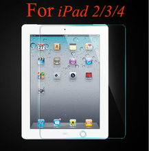 50pcs 0.3mm 9H hardness explosion proof tempered glass screen protector for apple ipad 2/3/4 tempered glass film