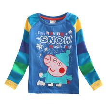nova kids factory direct sell SOFI toddler boys t shirts cartoon characters  baby hot selling knitted kids tops nova shirt(China (Mainland))