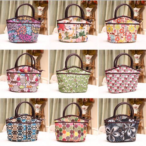 New Style Lovely Waterproof Printing Handbag Fashion Lunch Bag Korea Edition Handbag Many Colors Good Quality(China (Mainland))