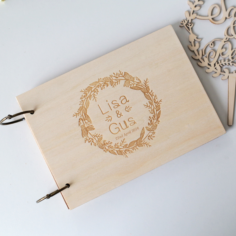 Personalised Wedding Guest Gifts : Personalized Wedding guest book, Rustic wedding guestbook album,Custom ...