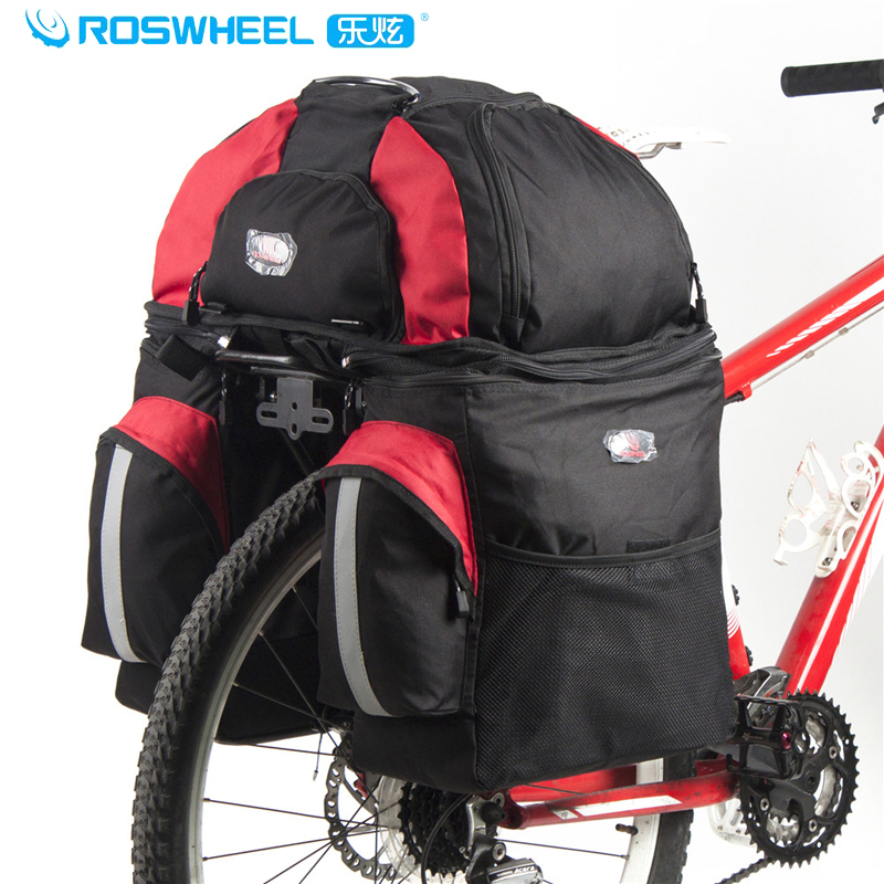 ROSWHEEL Cycling Travel Pack Doite Three In One Bike Rear Seat Bag With Waterproof Cover Capacity 60L ,Bike Accessories,2Colors(China (Mainland))