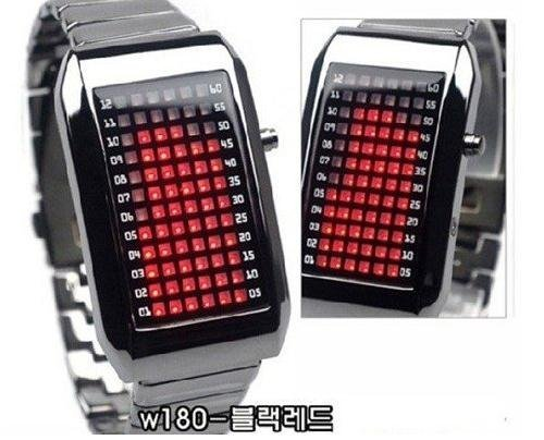 LED Watches, watch with 72 LED Lights FROM South Korea, 10pcs