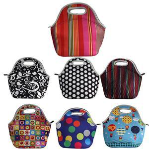 New Hot 100% Neoprene Cooler Insulation Waterproof Thermal Lunch Bags for Women Kids(China (Mainland))