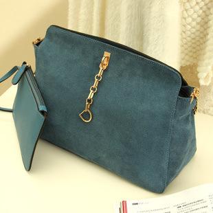 Retro women bag cowhide frosted women PU Leather handbags elegant women messenger bag polar chain shoulder bags