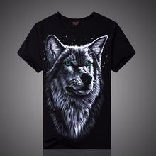 2015 New 3D T Shirt Men Cotton Tops Tee Animal Wolf  Skull Anime Printed Swag Short Sleeve T-shirt Men Hip Hop Sport Camisetas