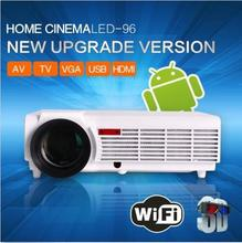 2016 Más Nuevo 5500 lúmenes Android4.4 Bluetooth Quad Core Nativo Full HD 3D LED Proyector de Cine En Casa Inteligente Con TV Digital sintonizador(China (Mainland))