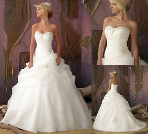2016 Promotion Direct Selling Zipper Romantic Vestidos De Novia Fashionable Stock Wedding Dress Bridal Gown Bridesmaid Size 18(China (Mainland))