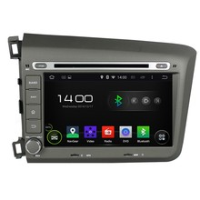Cortex A9 HD 1024*600 Quad Core 1.6G CPU 16GB Flash Android 5.1.1 Car DVD Player Radio GPS Navi Stereo for Honda Civic 2012 2013