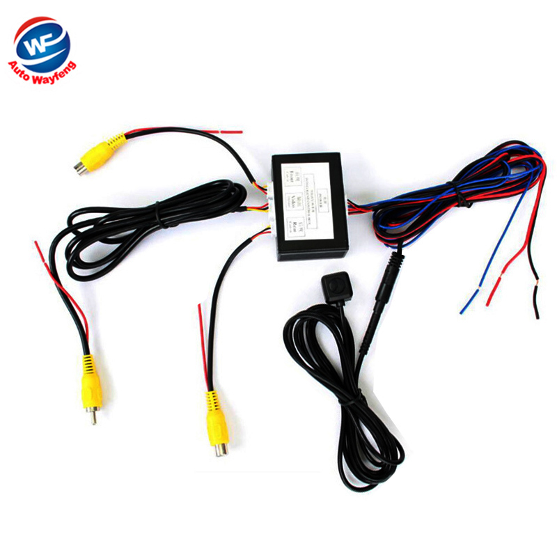 Car Parking Camera Video Channel Converter Auto Switch Front /View Side/Rearview Rear View Camera Video Control Box with Manual(China (Mainland))