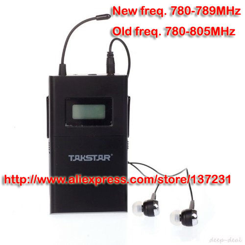 Original choose frequency TAKSTAR WPM-200 single receiving (including earphone) Professional Wireless Monitor System receiver(China (Mainland))