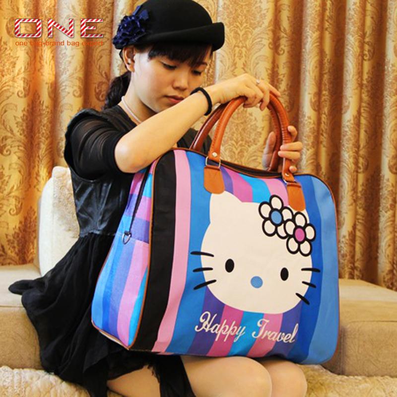 2016 hot sale famous brands women's cartoon bag women luggage travel bags large sport bag for women spain bolsos ZL99(China (Mainland))