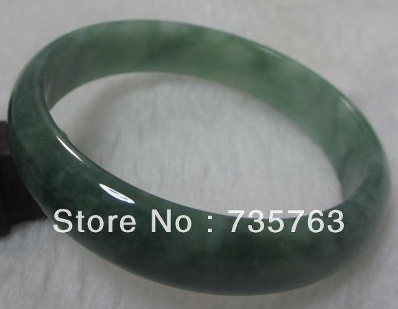 """Здесь можно купить  xiuli 0044 NATURE GRADE """"A """"BEAUTIFUL GREEN JADE JADEITE BRACELET GREEN BANGLE 56MM  Ювелирные изделия и часы"""