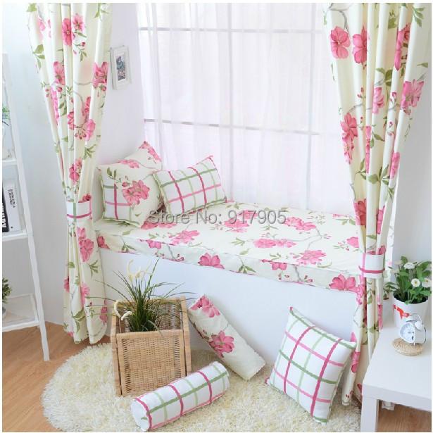 Hot selling romantic rustic vintage floral print curtains - Cortinas vintage dormitorio ...