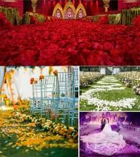 Rose Petals for Wedding Or Event Party Decorative 2000 pcs/lot Fashion Decoration Wedding Accessories 16 Colors Flower Petal(China (Mainland))