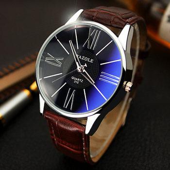 2016 YAZOLE luxury brand quartz watch Casual Fashion Leather watches reloj masculino men watch Business Sports Wristwatch