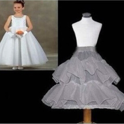 2015 Flower Girl Dress Petticoat 1-Hoop 2-Layer Bride Formal Dress Crinoline White Children Kid Underskirt Wedding Accessories(China (Mainland))
