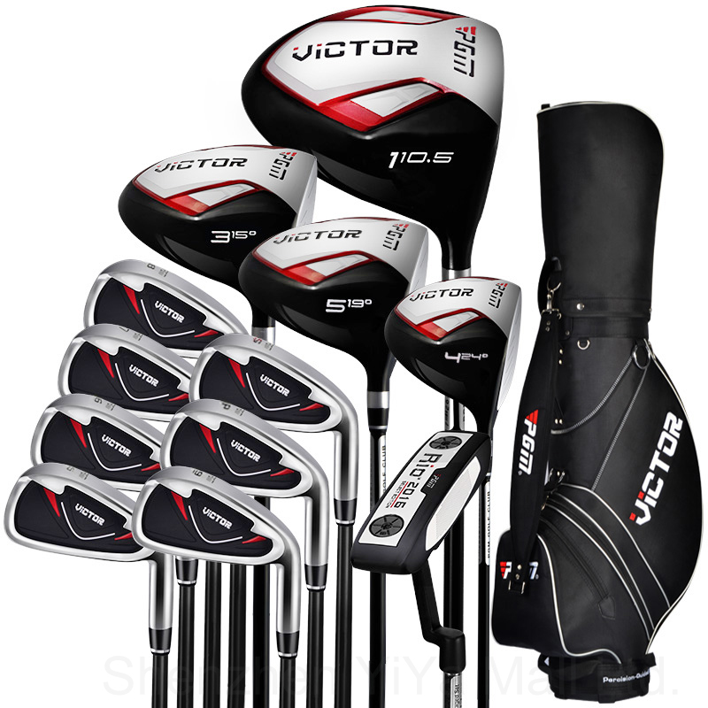 PGM Victor golf Junior clubs/include golf driver Men's Complete Set of Clubs with golf bag+golf clubs +head cover full sets(China (Mainland))