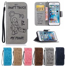Buy Don't touch Leather Wallet Case Apple iPhone 6s Apple iPhone 6 s Case Card Holder Shell Bags for $3.82 in AliExpress store