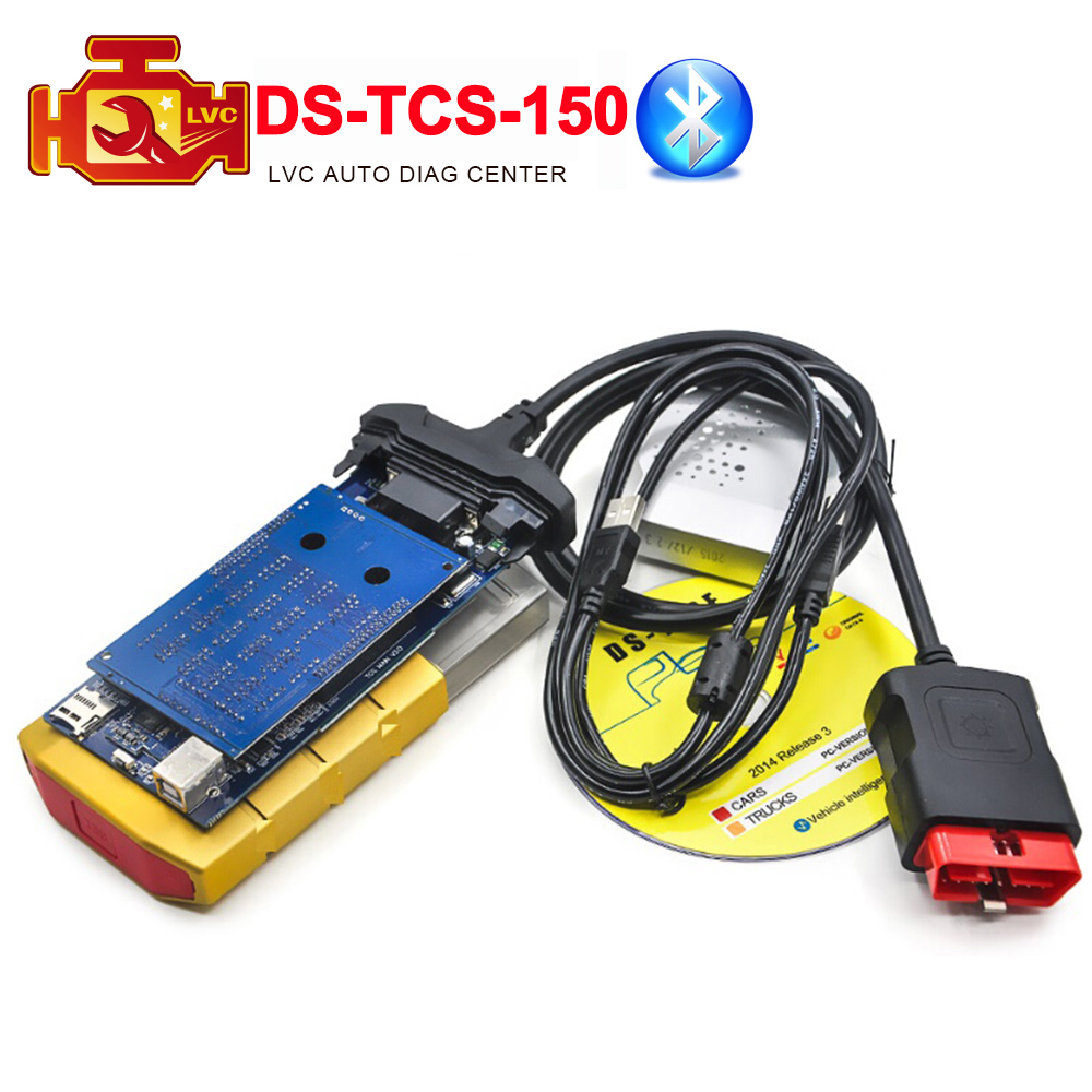 Gold color 2014.3 ds cdp+ 150 Bluetooth tcs cdp+ cars / trucks diagnostic tool cdp plus one year warranty Free Shipping(China (Mainland))