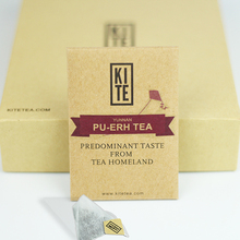 Royal Puer Tea ,16 pieces, Whole Leaves Pu er tea in Pyramid Tea Bags, (1 Gift Box), by KITE. slimming gift