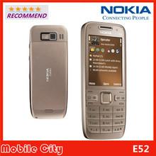 Nokia E52 Original Refurbished Unlocked Mobile Phone Camera 3.2MP Bluetooth WIFI GPS Free Shipping(China (Mainland))