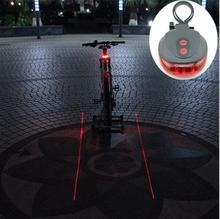 Buy Bicycle LED Tail Light Safety Warning Light 5 LED+ 2 Laser Night Mountain Bike Rear Light Taillight Lamp Bycicle Light for $1.45 in AliExpress store