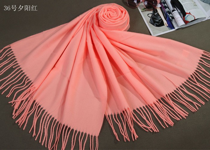 Free Shipping Sunset Red Winter Chinese Women's Cashmere Shawl Scarf Thick Warm Wrap WS009-N(China (Mainland))